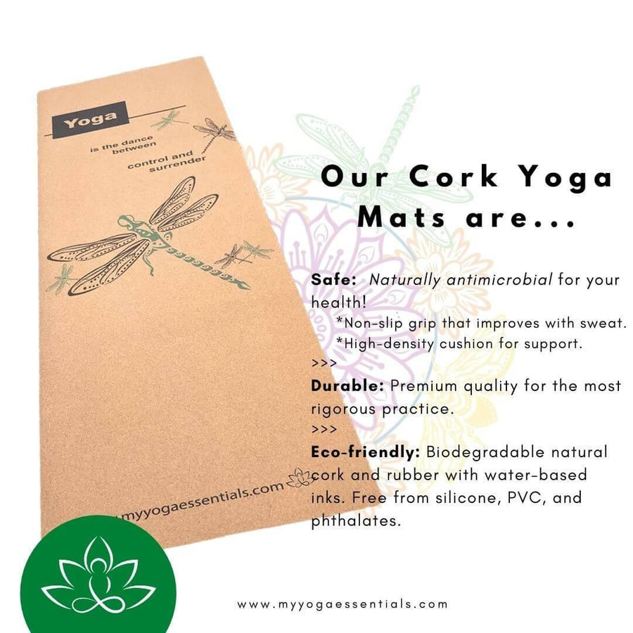 cork Dragonfly Cork & Natural Rubber Luxury Yoga Mat