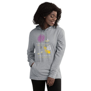 "Light Heather Grey / S ""Bumble Bee"" T-Shirt Hoodie"