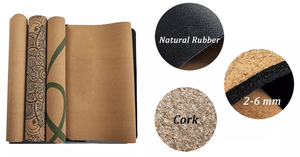 Lotus Cork and Natural Rubber Yoga Mat