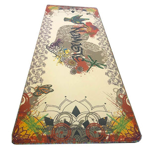 Mat, Linen Namaste Graffiti Series Luxury Hemp Linen and Natural Rubber Yoga Mat