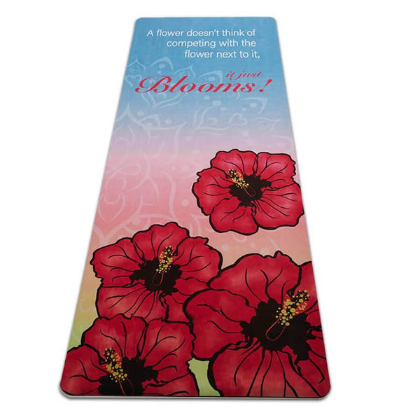 Mat, Suede It just Blooms It Just Blooms Suede/Natural Rubber Travel Yoga Mat