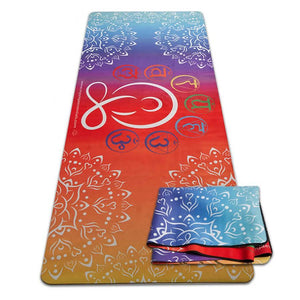 Mat, Suede Yogi with Chakras Yogi with Chakras Suede/Natural Rubber Travel Yoga Mat