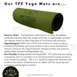 Mat, TPE Eco Friendly - Non Slip Luxury Thermal Plastic Elastomer (TPE) Yoga Mat