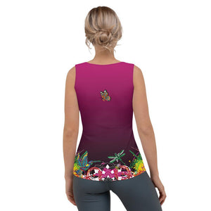 """Namaste"" Fitted Tank Top"