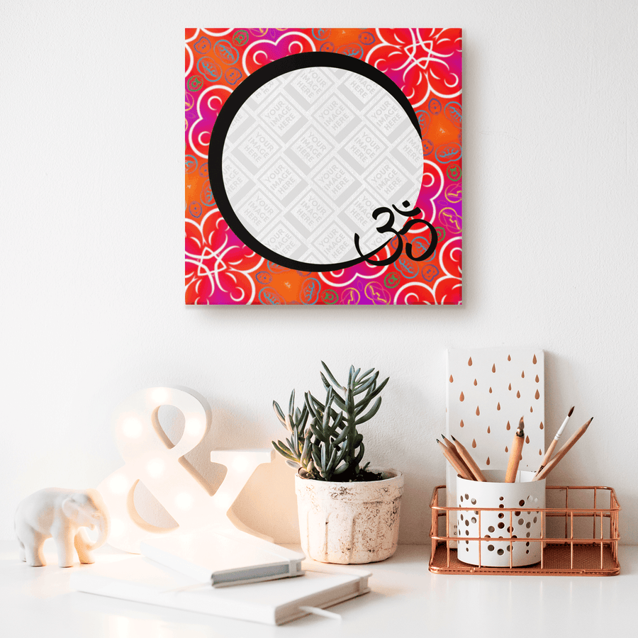 "Personalized ""OM"" Canvas Art - Kaleidoscope in Color"