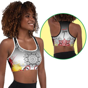"""Strong"" Graffiti Series Padded Sports Bra"