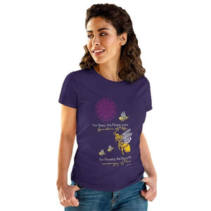 "T-Shirt Bumble Bee ""Messenger of Love"" Women's Cotton Tee"
