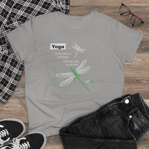 "T-Shirt Dragonfly ""Dance"" Women's Cotton Tee"