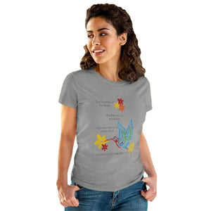 "T-Shirt Sport Grey / S Hummingbird ""Symphony of Life"" Women's Cotton Tee"