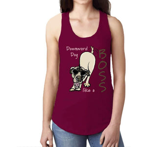 "Tank Top ""Downward Dog"" Women's Ideal Racerback Tank"