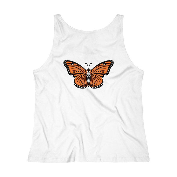 "Tank Top Monarch ""Become"" Women's Relaxed Jersey Tank Top"