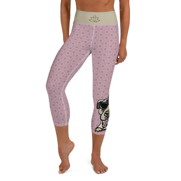 Capri Yoga Leggings - Downward Dog
