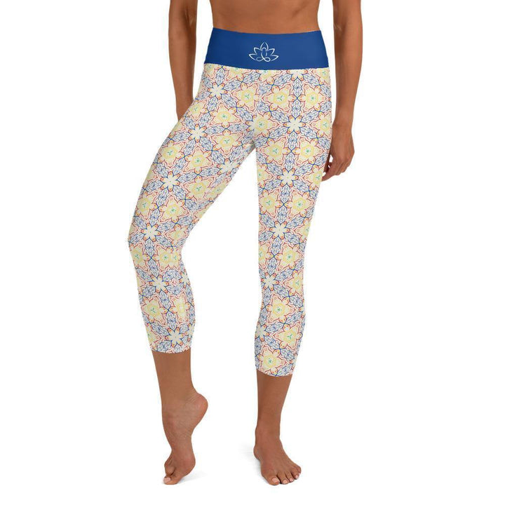Capri Yoga Leggings  - Primary Kaleidoscope