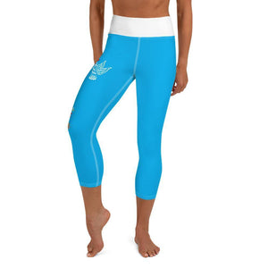 Yoga Capri Leggings- Hummingbird