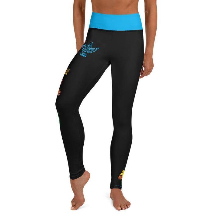 High Waisted Yoga Leggings - Hummingbird