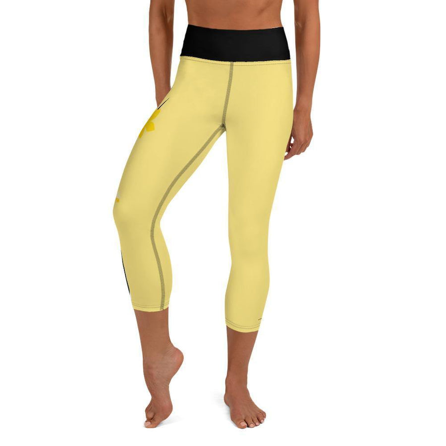 Yoga Capri Leggings - Bumble Bee