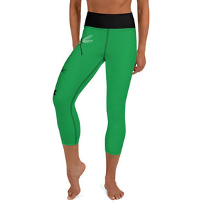 Yoga Capri Leggings - Dragonfly