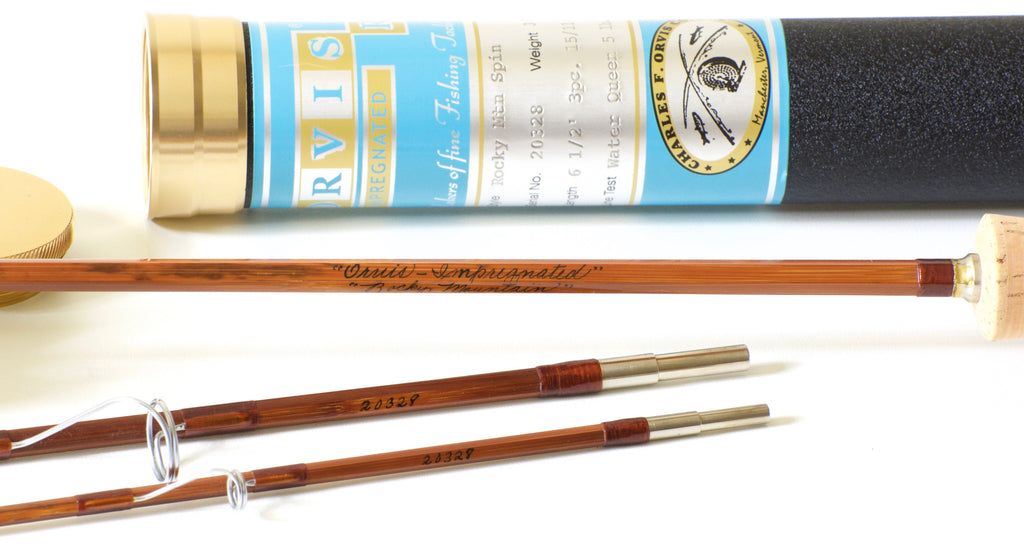 Orvis Rocky Mountain 6 6 Spinning Bamboo Rod Vintage Fly