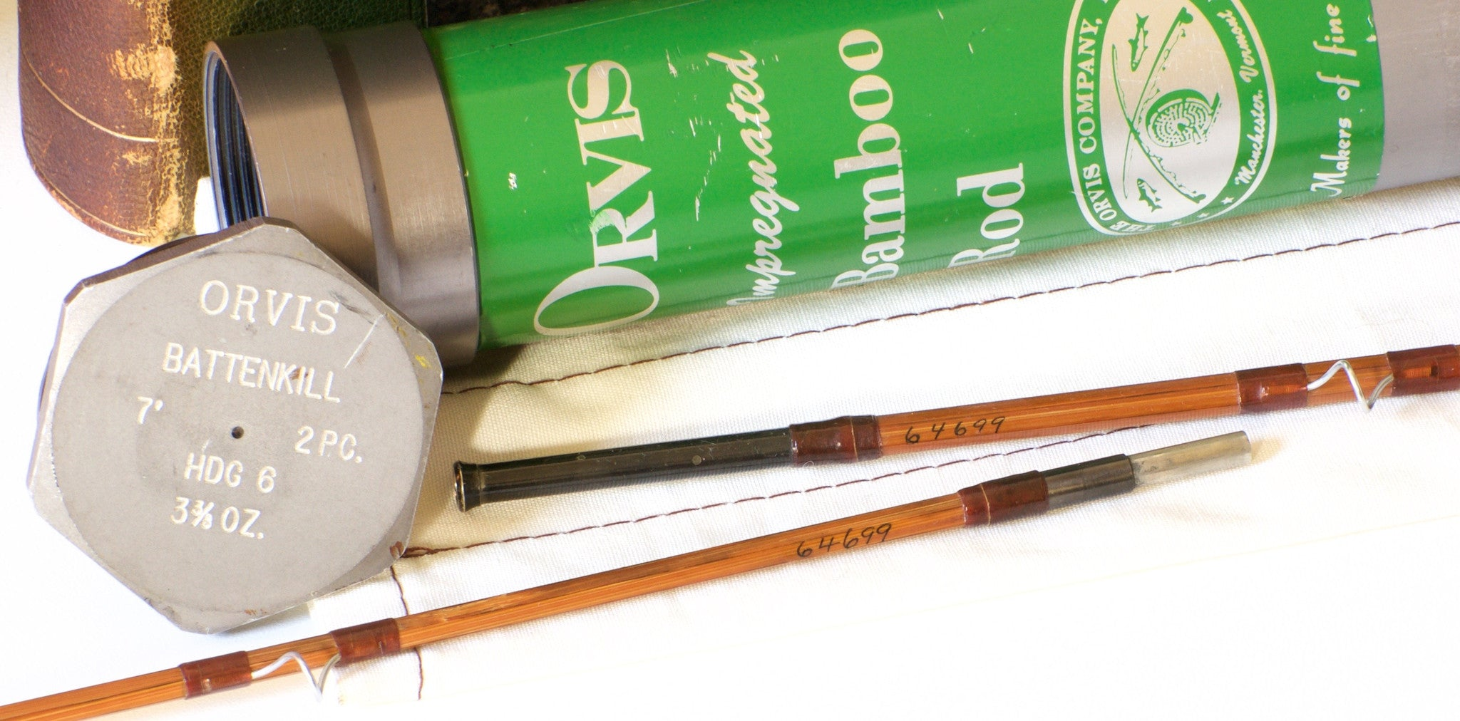 Orvis Battenkill 7 3 3 8 Oz Bamboo Rod Vintage Fly Tackle