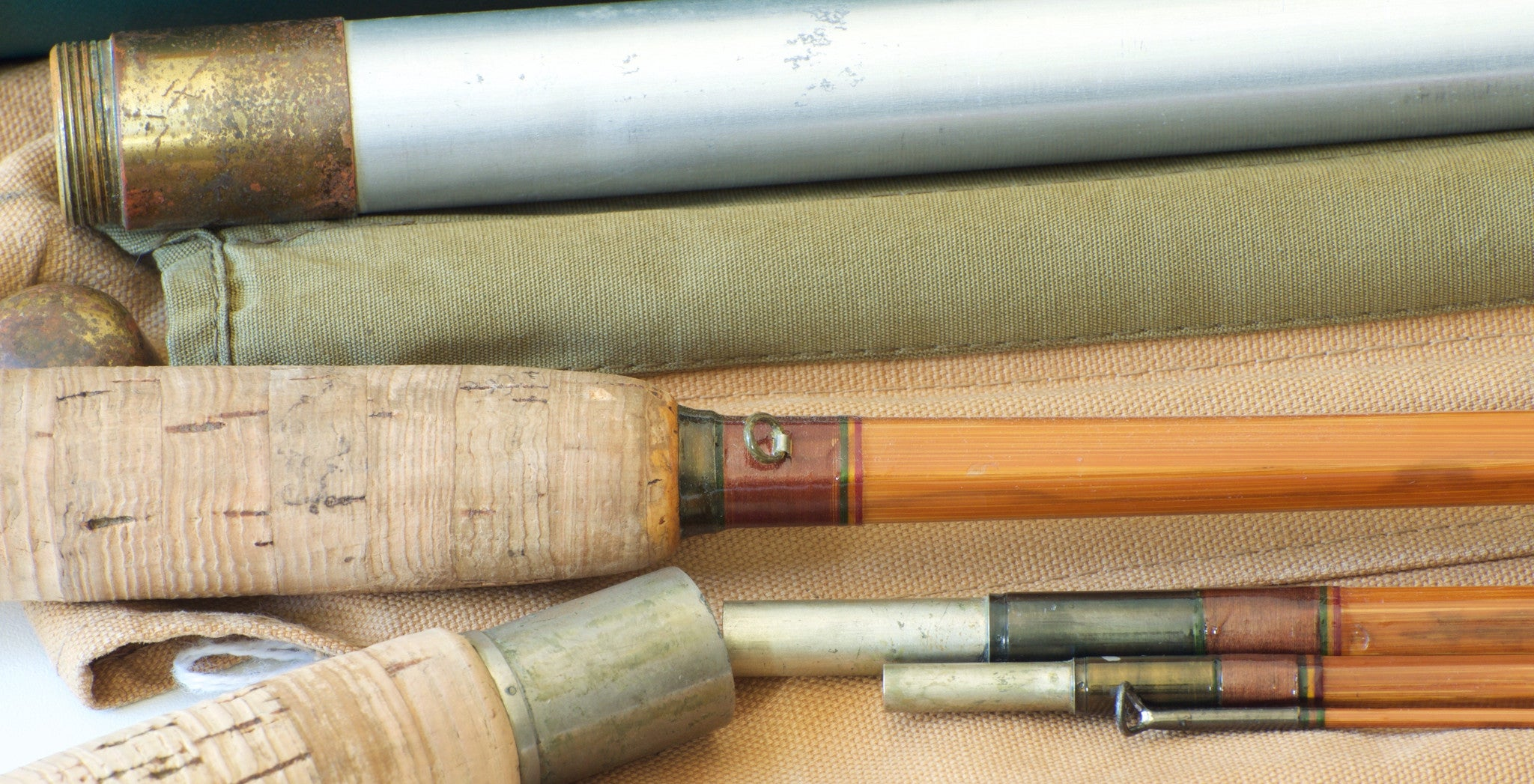Payne Model 420 Dry Fly Salmon Bamboo Rod 10 6 Quot Vintage