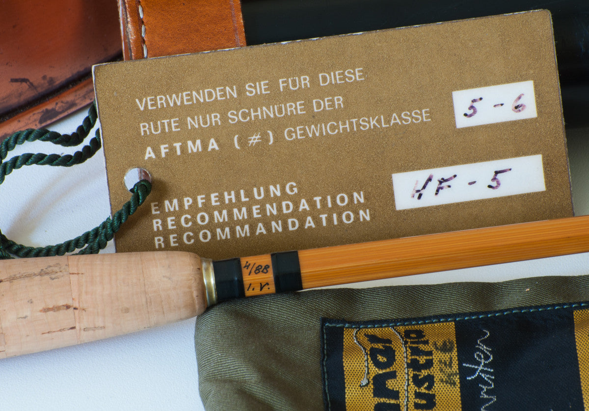 Brunner Walter Quot Type Gebetsroither Quot Bamboo Rod 7 2 1 5