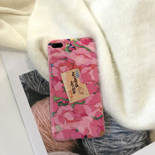 Load image into Gallery viewer, Kawaii Pink Flowers Phone Case For iPhone 7 8 Puls 6 6S Puls X P0023