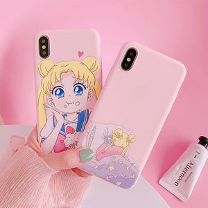 Sailor Moon Phone Case For Samsung A70 S8 A50 S9 note 9 8 S10 S7 edge j7 j5 j4 a5 a8 a30 s6 s9 plus a6 s10e j6