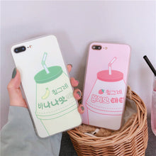 Load image into Gallery viewer, Kawaii Banana Strawberry Milk phone case for iPhone 6 6s 7 8 plus X Xs Max XR P0024