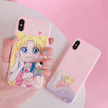 Load image into Gallery viewer, Sailor Moon Phone Case For Samsung A70 S8 A50 S9 note 9 8 S10 S7 edge j7 j5 j4 a5 a8 a30 s6 s9 plus a6 s10e j6
