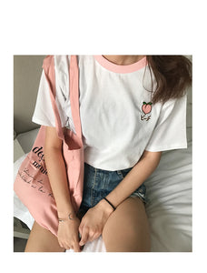 Summer Fruit Embroidered T-shirts