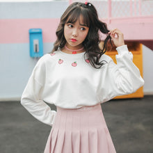 Load image into Gallery viewer, Cute Peach Hoodies Long Sleeve L0011
