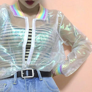 Hologram Rainbow Transparent Jacket
