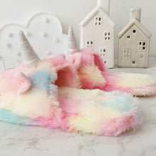 Load image into Gallery viewer, Pastel Unicorn Slippers S2202