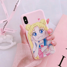 Load image into Gallery viewer, Sailor Moon phone case for iPhone 6,iPhone 6 Plus,iPhone 6s,iPhone 6s plus,iPhone 7,iPhone 7 Plus,iPhone 8 Plus,iPhone 8,iPhone X,iPhone XS MAX,iPhone XR,iPhone XS P0012