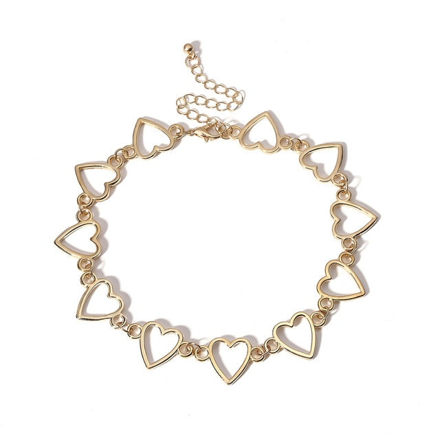 Korean Sweet Love Heart Choker