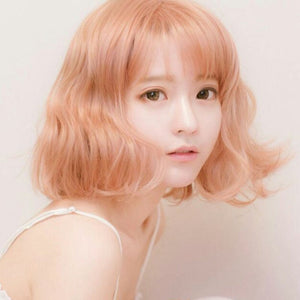 Harajuku Short Blonde Wig W002