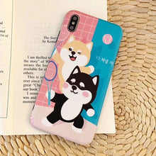Load image into Gallery viewer, Japanese Cute Shiba Inu Soft Phone Case for iPhone 6 6S 7 8 Plus X XS XR XS MAX Cover P0020