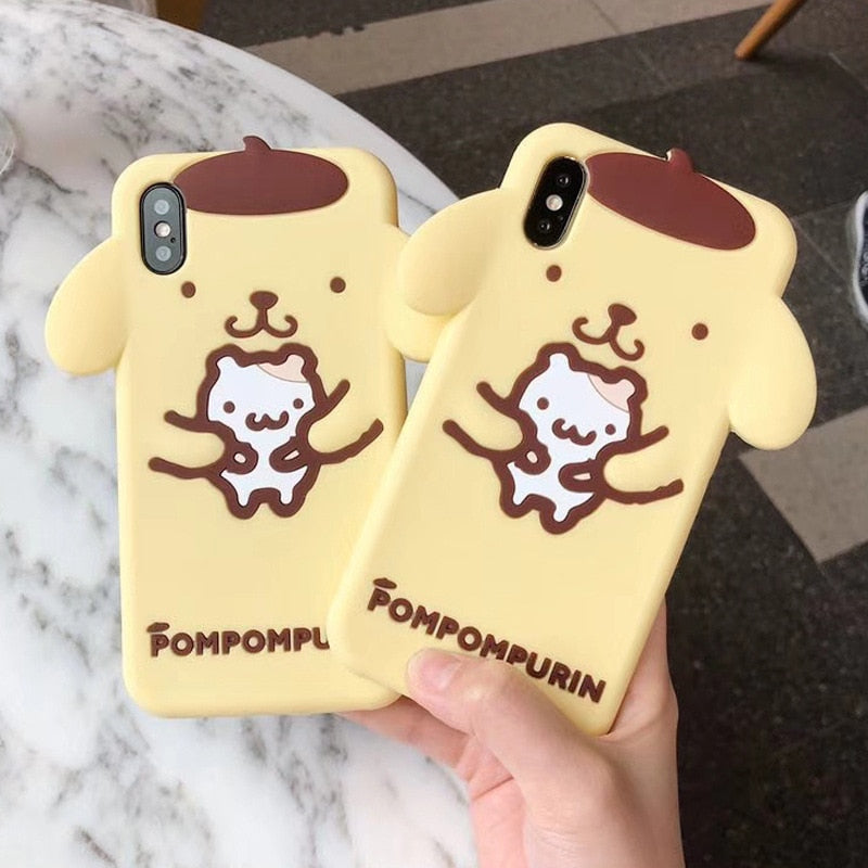 Cute Pudding Dog Phone Case for iphone X 8 7 6 Soft TPU Silicone Phone Shell for iphone 6 6S 7 8 Plus Cover P0019