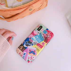Kawaii Milk Drink Bottle Phone Case For iPhone 7 7 Puls 6S 7 8Puls X XS Max XR Cases Soft Silicon Back Cover P0021