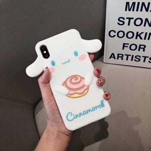 cute Melody Cinnamoroll phone case for iphone 6 6s 7 8 plus X XR XS MAX P0018