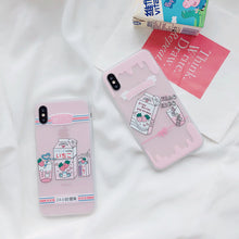 Load image into Gallery viewer, Cute Strawberry Milk Phone Case for  iPhone X 6 7 8 6s plus P0022