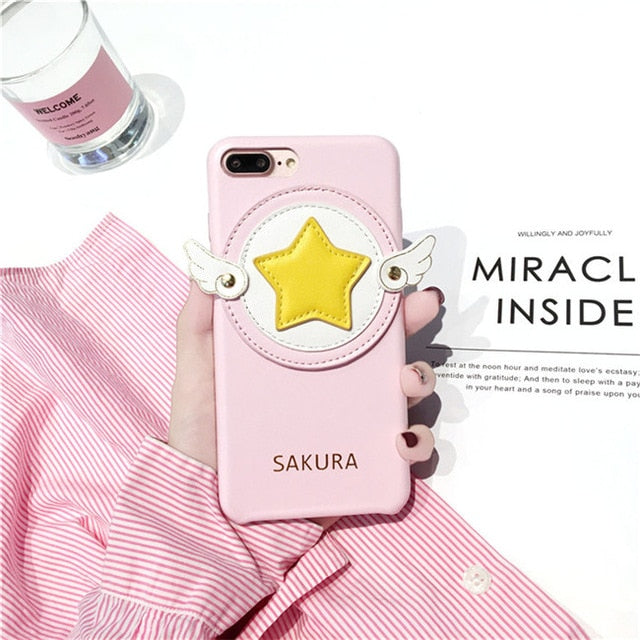 Sakura phone Case Cover For iPhone 6 6s 7 8 plus for iphone x 10 P0014