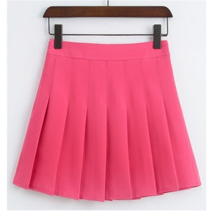 high waist pleated skirt T1016