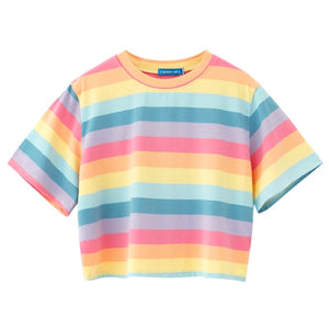 Colorful Striped Casual T-shirts CS9301