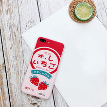 Load image into Gallery viewer, Cute Strawberry Drink Phone Case For iPhone 6s,iPhone 7,iPhone 5s,iPhone 7 Plus,iPhone X,iPhone SE,iPhone 8,iPhone 5,iPhone 6 Plus,iPhone 6s plus,iPhone 6,iPhone 8 Plus P0015