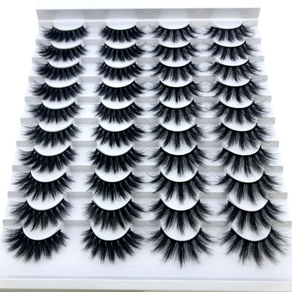 20 Pair Faux Lash Set