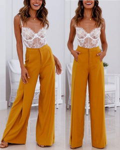 Sexy High Waist Wide Leg Slacks
