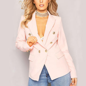 Elegant V Neck Pure Colour Blazers