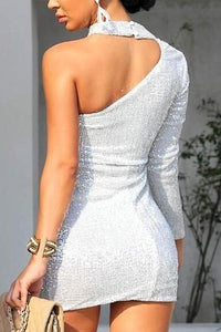 Open Shoulder  Plain Bodycon Dresses