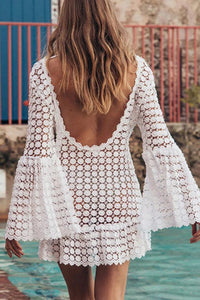 Vacation Lace Beach Bikini Pullover Mini Dress